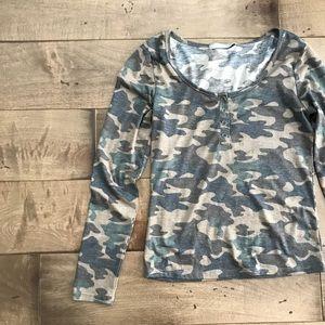Tresics Camouflage Top Blouse Shirt